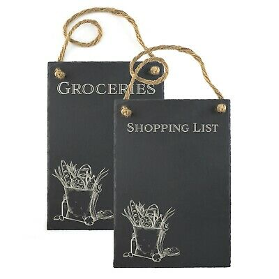 50 cm by 35 cm Large slate chalk memo message shopping list board gift-free post