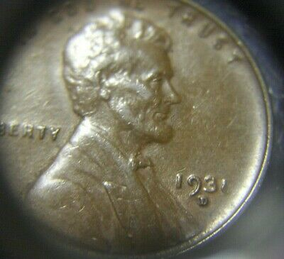 1931 1c Lincoln Wheat Cent Penny US Coin F Fine