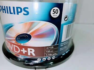 Philips DR4S6H50F17 4.7GB 16x DVD+R Media - 50 Pack