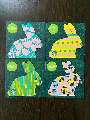 "New No Value Canada Series Starbucks /""EASTER EGG SET 2017/"" Gift Cards 5"