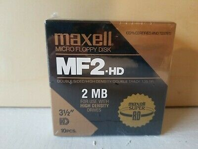 "Maxell Micro Floppy Disk, box of 10, 3.5"" HD, MF2"