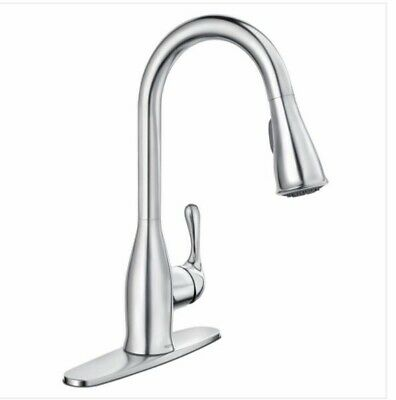 Moen Nori Matte Black One Handle Pulldown Kitchen Faucet With Reflex 87066bl 294 99 Picclick