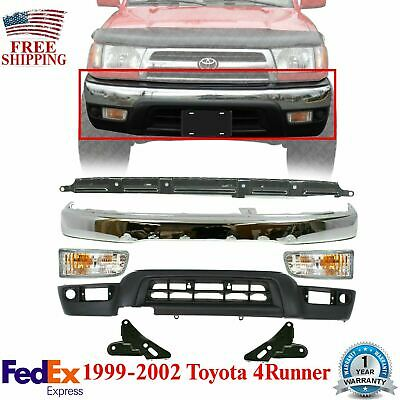 Bumper Bracket Compatible with Toyota 4Runner 92-95 Front Right and Left Side Set of 2 Steel