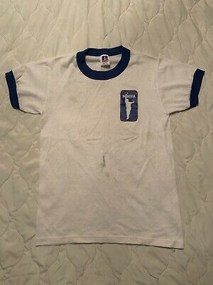 vtg 80s Russell Athletic RARE NHPA Ringer T-Shirt Horseshoes sz Youth L