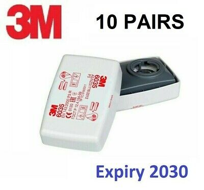 3M 6035 P3 Particulate Filters Factory Sealed Expiry 08/2030 BOX OF 10 PAIRS