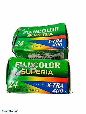 🔥2 Rolls • Fujicolor X-TRA 400 • 24exp ISO400 expired 11-2002 • CH135
