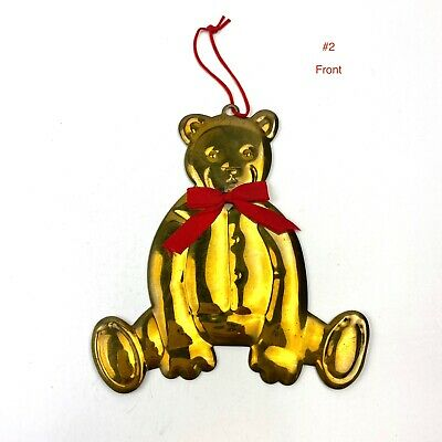 Set of 2 Round Tin Cans Dept 56 Teddy Bear Christmas Art by Laura Eastwood
