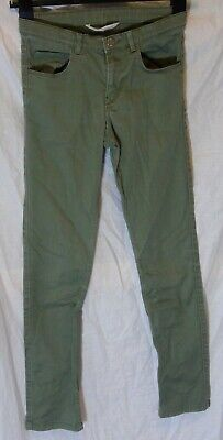 Boys H&M Dusky Khaki Green Grey Denim Skinny Leg Jeans Age 11-12 Years