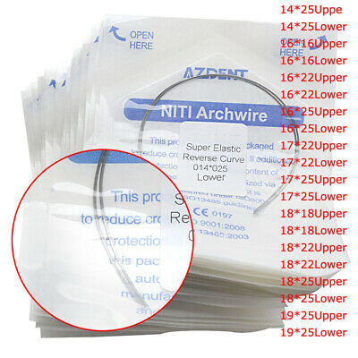 30Bag Orthodontic Arch Wires NITI Reverse Curve Rectangular Upper Lower AZDENT