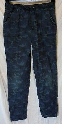 Boys George Blue Grey Camo Vintage Look Denim Relaxed Fit Jeans Age 13-14 Years