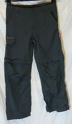 Boys Decathlon Grey Zip Off Knees Outdoor Forest School Trousers Age 10 Years