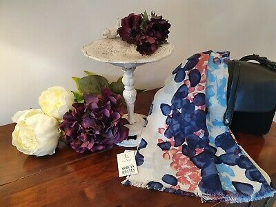 Luxury item Morgan and Oates pink floral Wrap//Scarf Merino//Cashmere
