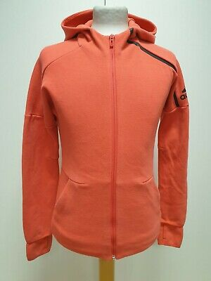 P911 Girls Adidas Salmon Pink Drawstring Sweatshirt Hoodie Age 13 -14 Years