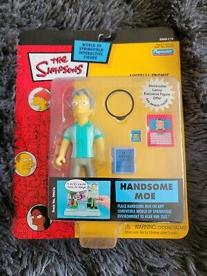 New Sealed Playmates The Simpsons Handsome Moe Action Figure #4738