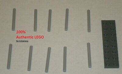 6081988 Brick 18274 10x LEGO NEW Black Bar 6 with Thick Stop