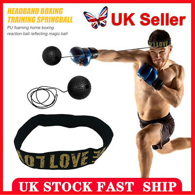 Fight Ball Reflex Boxing Trainer Training Boxer Speed Punch Heads String Caps uk