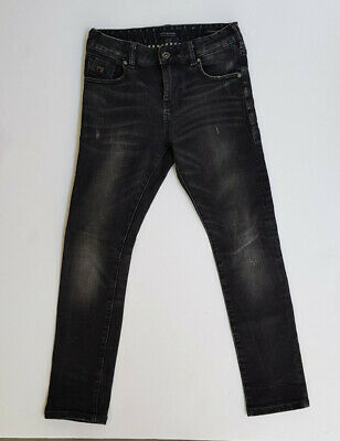Boys Scotch and Soda black distressed look Strummer jeans