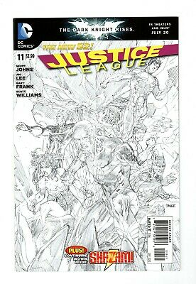 Justice League #16 DC Comics 2012 New 52 Blank Sketch Variant Cover Johns Reis