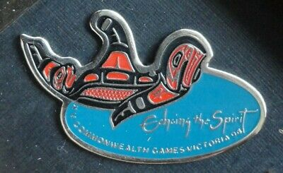 Pacific Northwest Orca Killer Whale Pin - First Nations Artist Padjasame Design