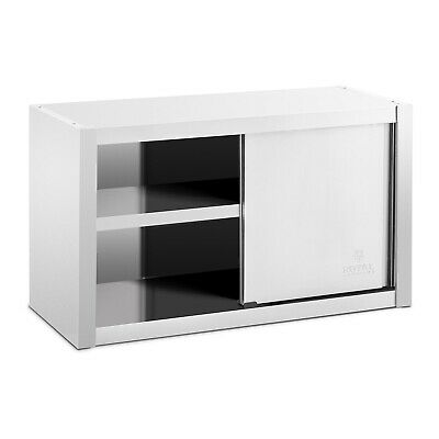 Stainless Steel Wall Hanging Cabinet Sliding Doors 100x45cm