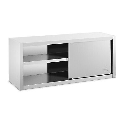 Stainless Steel Wall Hanging Cabinet Sliding Doors 140 x 45cm