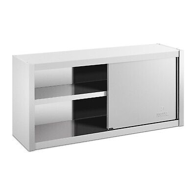 Stainless Steel Wall Hanging Cabinet Sliding Doors 120x45cm