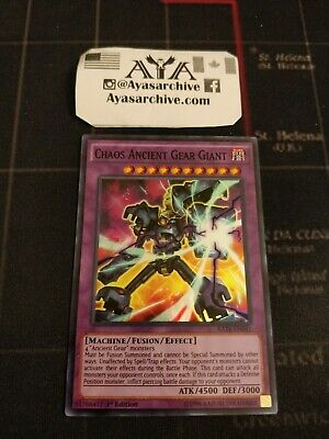 Yugioh3xChaos Ancient Gear GiantRATE1st EditionSuper RareNM