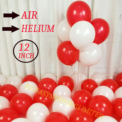 12inchPlain Latex Balloons Pink White Red Helium Quality Party Birthday Wedding