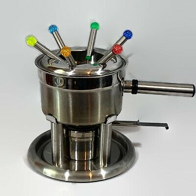 Set Of Six Stainless Steel Fondue Forks