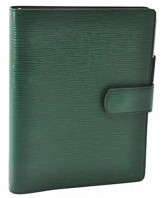 Authentic Louis Vuitton Epi Agenda GM Day Planner Cover Green LV A3727