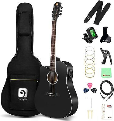 Left Handed Guitar Acoustic Electric Cutaway Guitar 41 Inch Full Size Beginner