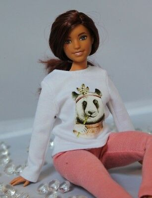 №099 Handmade Doll Clothes fit curvy size. Blouse and Leggings for Dolls.