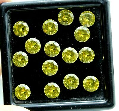 6 CT Ct Natural Yellow sapphire Round Cut 6 mm GGL certified 6 pcs
