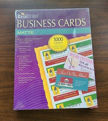 GEO46102 Geographics Royal Brites Business Cards