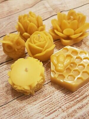 3x Pure Natural Cone Beeswax Organic Handmade Aromatherapy Candles.Paraffin-Free