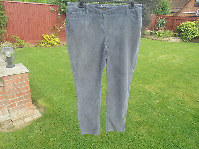 BODEN cord jeans size 22  long MUST HAVE SLATE GREY CORD SKINNY LEG JEANS WC114