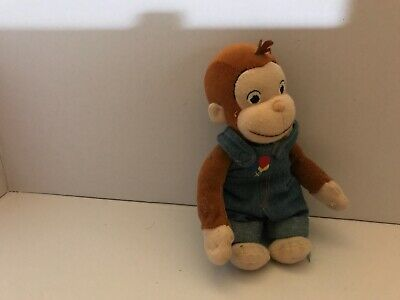 """Curious George with Kite 4/"""" Tall Plush Toy by Applause NWT Wiggles /& Moves"""