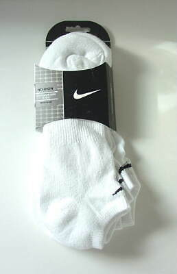 NIKE White Low Cut No Show Peds Socks 3 Pairs Mens Size 10-13 NEW NWT