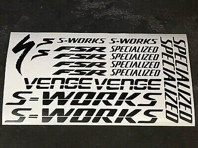 All colors S-Works Venge Specialized outline decals stickers.Rainbow chrome