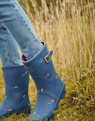 Joules Molly Welly Navy Stargaze Womens Casual Comfort Mid Height Wellies