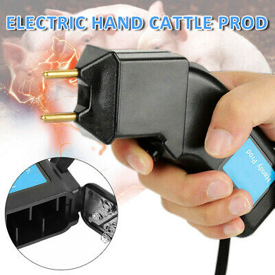 Electric Hand Prod Cattle Beef Prodder Farm Battery Powered Pig Sheep Animal O