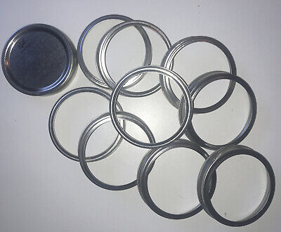 9 x Large Ball Large Mouth Lids Caps Bands Canning - Brand-New - FREE SHIPPING