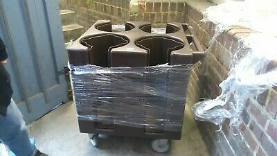 NEW  Dish Cart 4 Hole Plate Stacker  CAMBRO