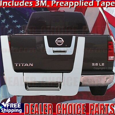 fits Nissan Titan 2013 2014 2015 Tailgate Handle Chrome with Camera Hole