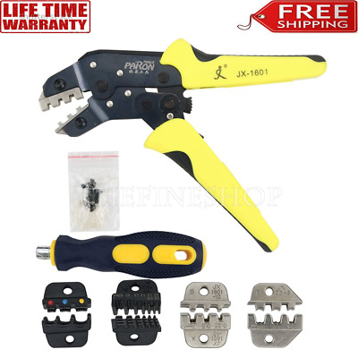 Wire Crimpers Engineering Ratcheting Terminal  Pliers Wire Strippers Tool P8B4