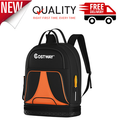 Heavy Duty Jobsite Tool Bag 33 Pockets Tool Backpack Made Of 600d Polyester NEW