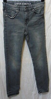 Boys H&M Mid Vintage Grey Denim Skinny Fit Super Stretch Jeans Age 13-14 Years