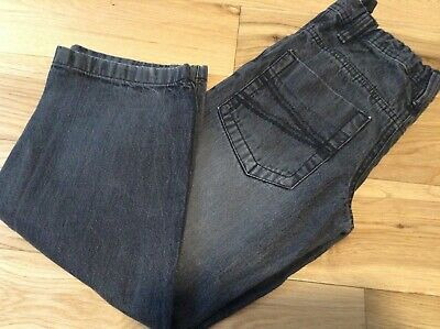 6-7 Years Boy's Cherokee Straight Leg Grey Stone Wash Jeans with Waist Adjusters