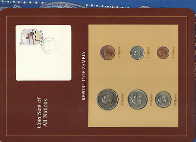 Coin Sets of All Nations Zambia 1972-1983 UNC 20,50 Ngwee 1972