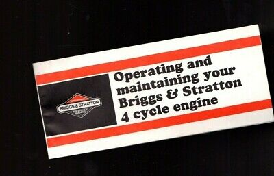 1980's Briggs & Stratton 4 Cycle Engine Operating and Maintenance Owners Manual